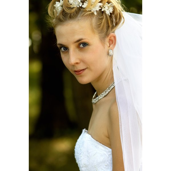 Irish brides ward off bad luck by tucking herbs into their braids.