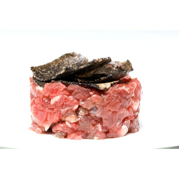 Beef tartare is an easy appetizer to make.
