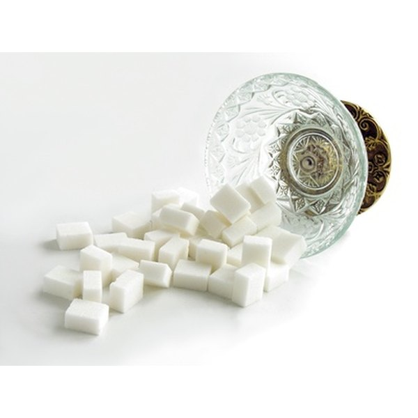 Sugar cubes are lumps of concentrated sugar.