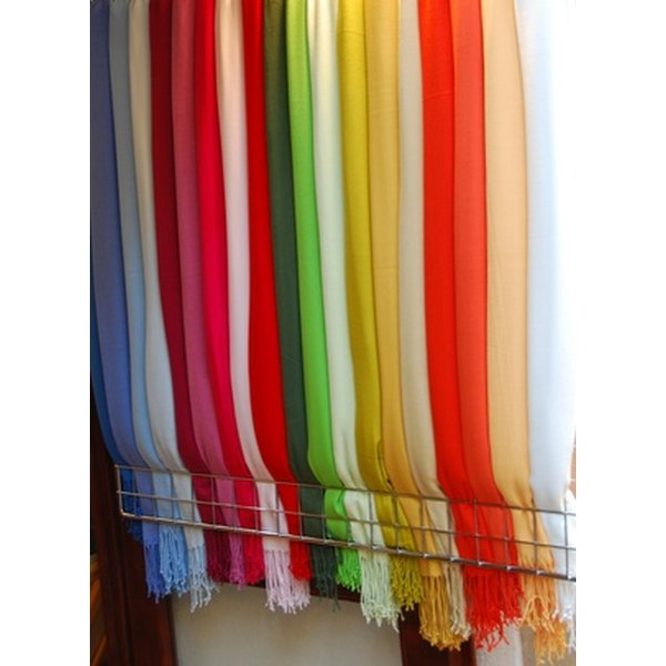 Pashminas come in both bright and neutral colors.