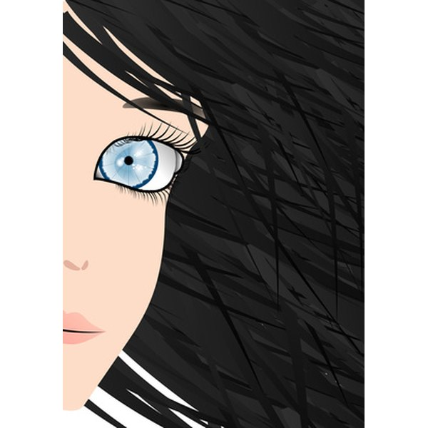 Black hair suits those with olive skin tones.