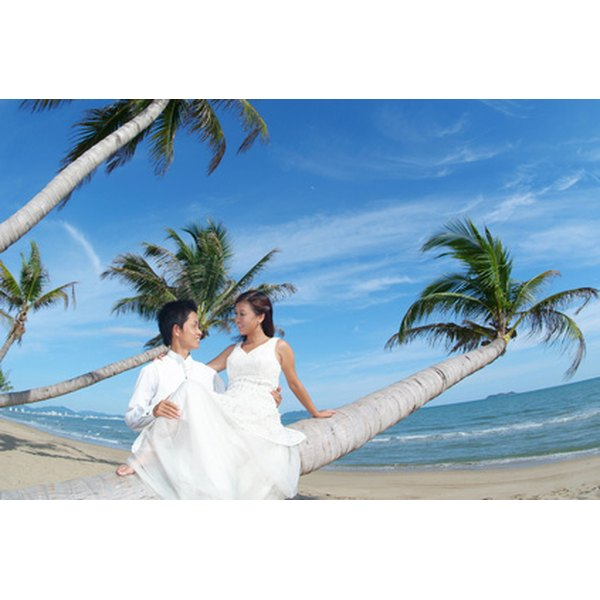 Hawaii is a desirable destination for a wedding.