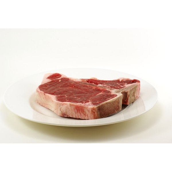 An order for beef processing gives instructions for the thickness of the t-bone steaks.