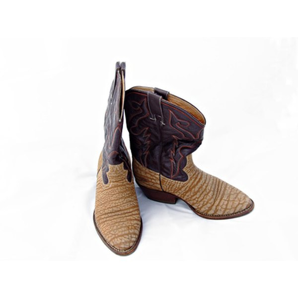 These are semi-round toe western boots.
