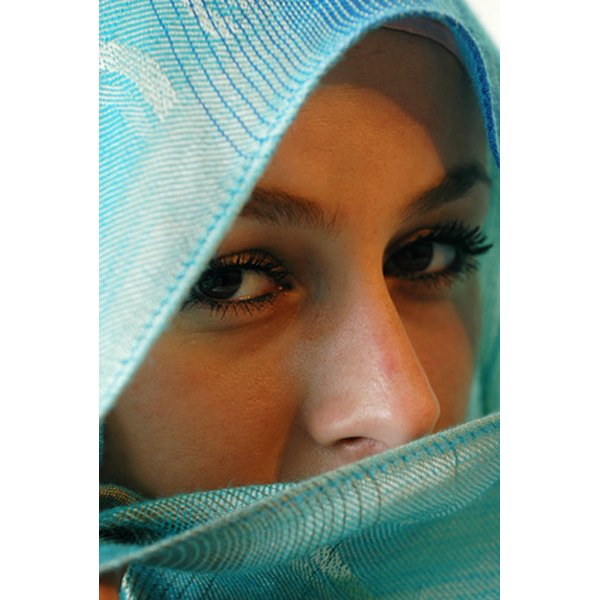 Used to keep both cool and warm, the hijab is a staple for Islamic women's fashion.