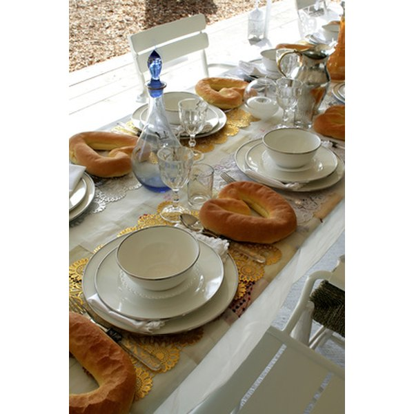 Affordable vases and placemats can make your party table stand out.