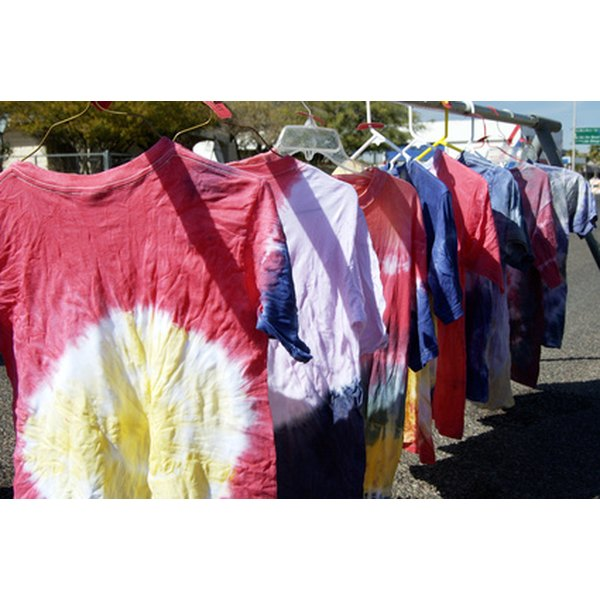 Tie-dyed shirts are a great way to get that '70's look.