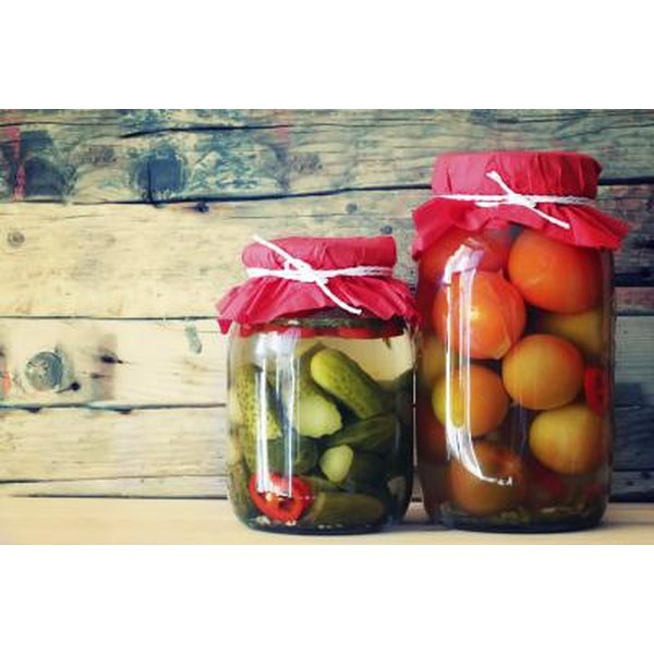 2 jars with natural food preservatives; pickling.