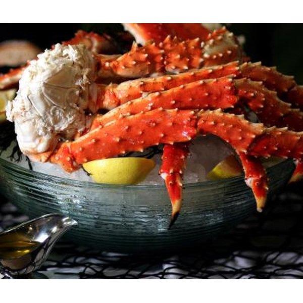King crab season opens in October.
