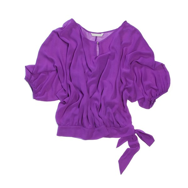 Silk will lose its shape if exposed to excess heat or harsh detergents.