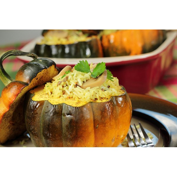 A stuffed squash is the perfect tribute to fall's harvest and your vegetarian or vegan guest.