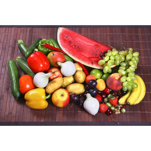 Fresh fruits and vegetables are high in nutrients and low in calories.