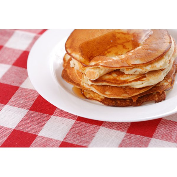 Pancakes are significantly lower in fat when compared to waffles.