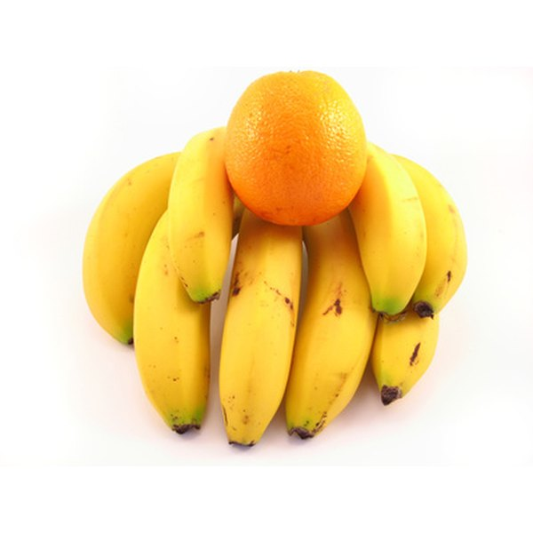 Bananas and oranges are rich in potassium.