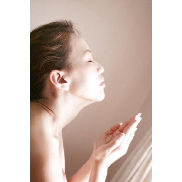 Washing your face helps keep excess sebum in check.