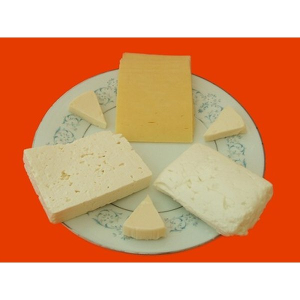 Cheese provides calcium and protein.