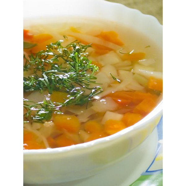 Soups help you fit in extra vegetable servings.