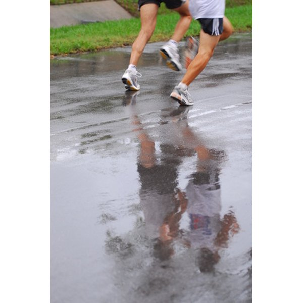 When running in rain, wear a hat to ensure safe vision.