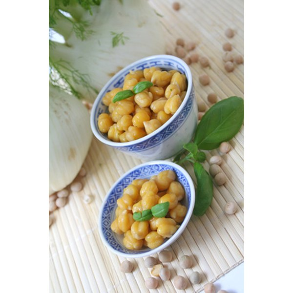 A half-cup of chickpeas has 8 grams of protein.