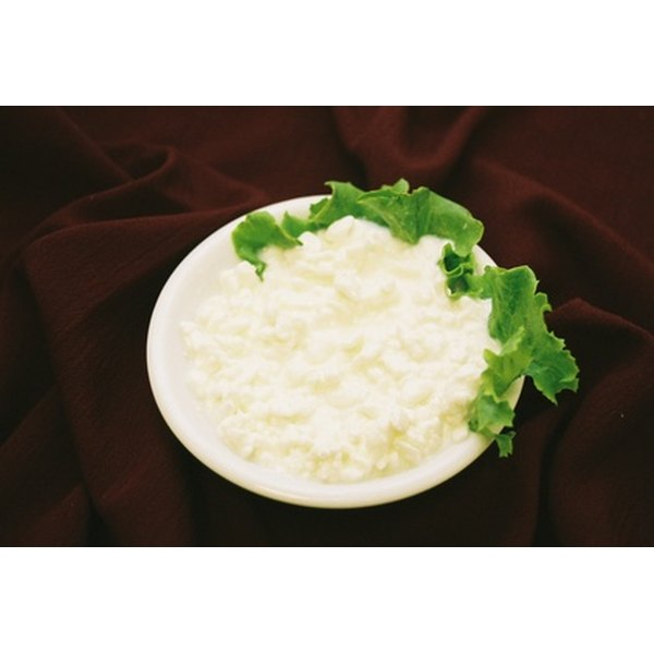 Cottage cheese comes in small curd and large curd varieties.