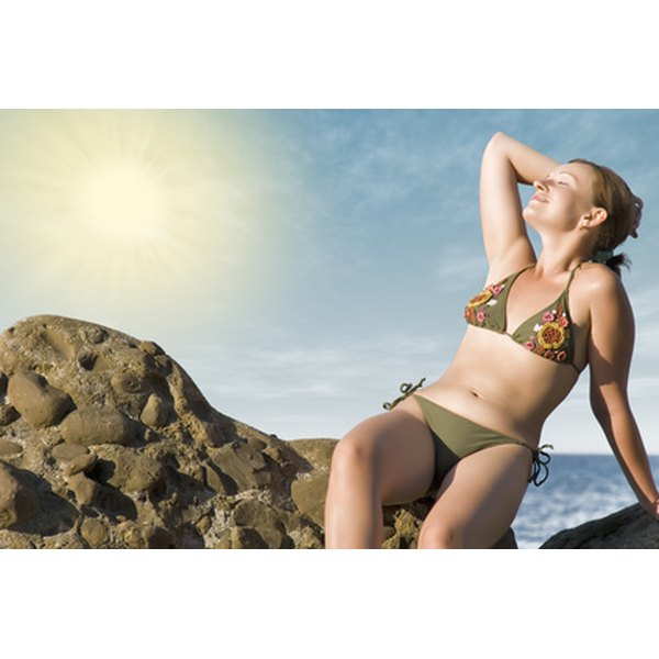 Too much tanning can lead to skin cancer.