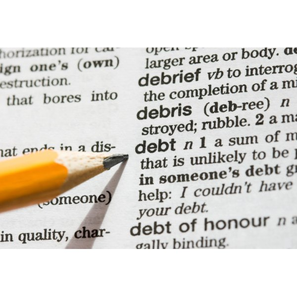 Dividing debt is part of the divorce process.
