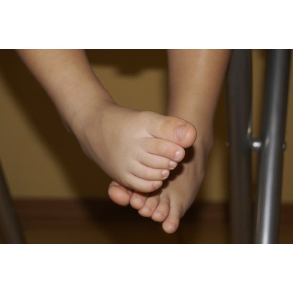 Toddler foot problems are common and usually do not cause any pain.