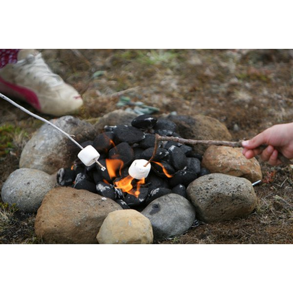 Roasted marshmallows are a classic camp dessert.