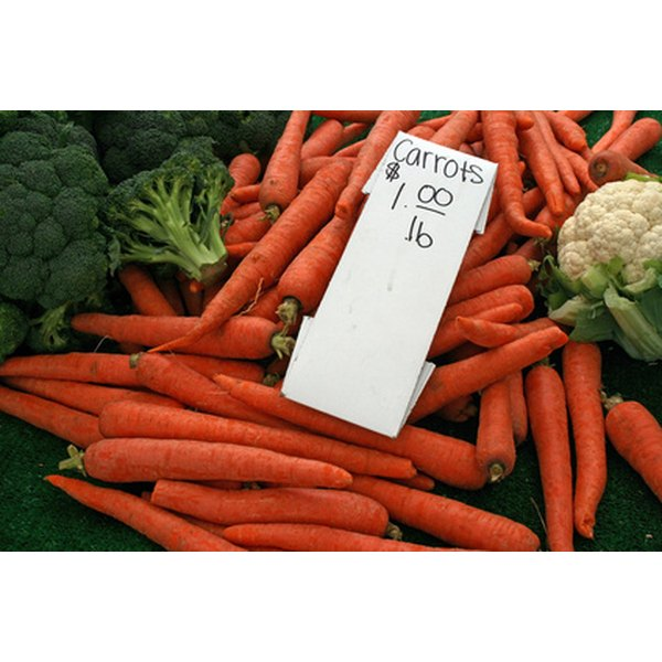 Broccoli and carrots are both good non-dairy sources of calcium.