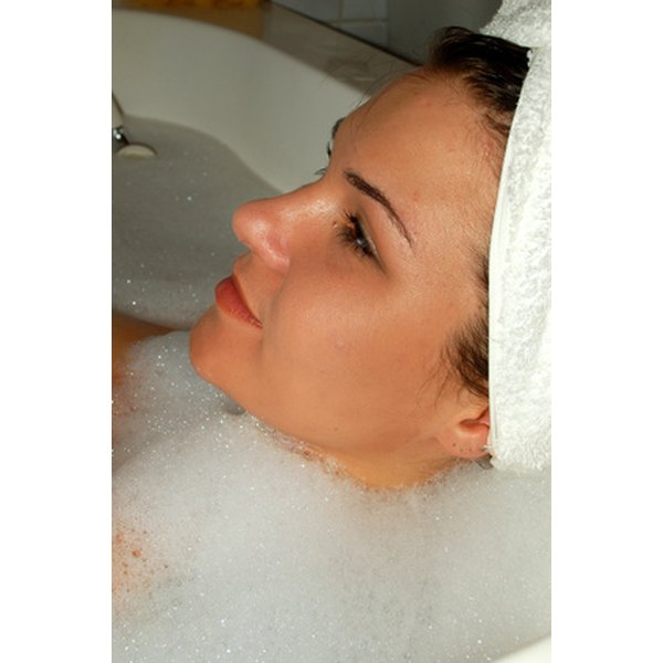Essential oils in a bath can help open the sinuses.