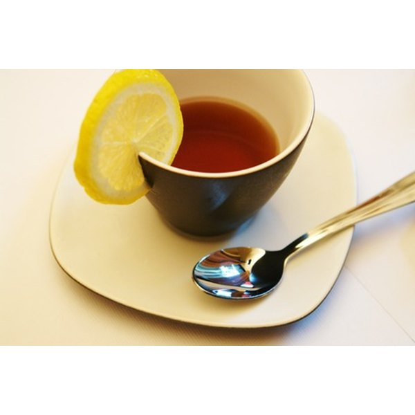 Drinking warm tea can help open congested airways.