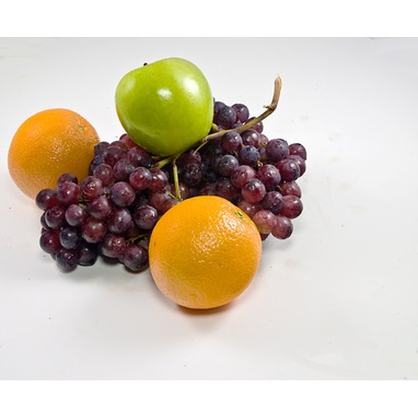 Apples, oranges and grapes can be combined for a fruit salad high in numerous vitamins.