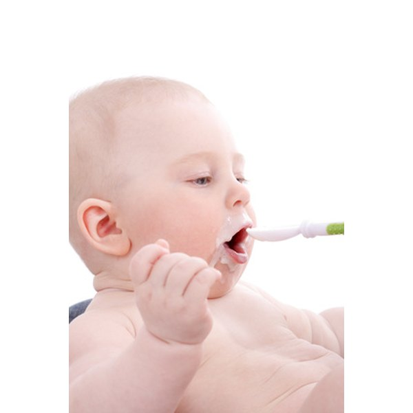 Your baby may begin to eat solid foods at 4 months.