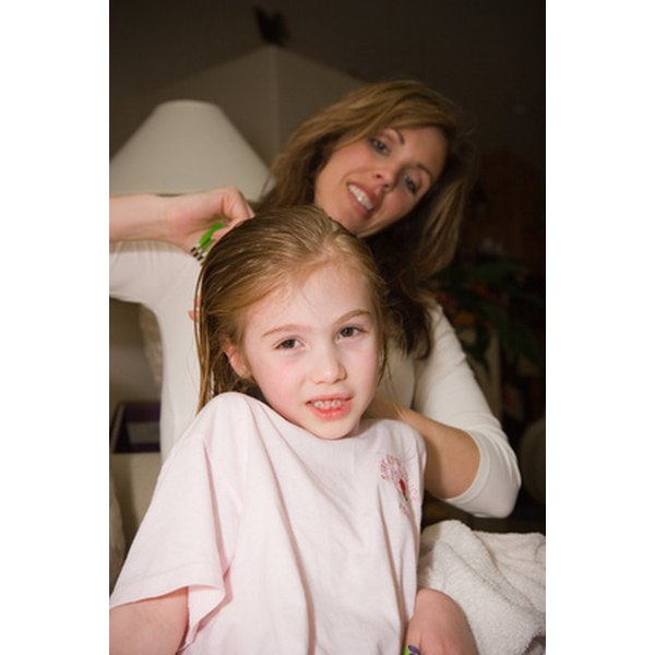 Vinegar may help loosen lice eggs from infested hair.