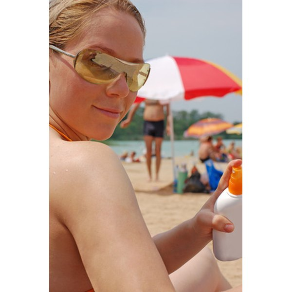 Steer clear of oily sunscreens.