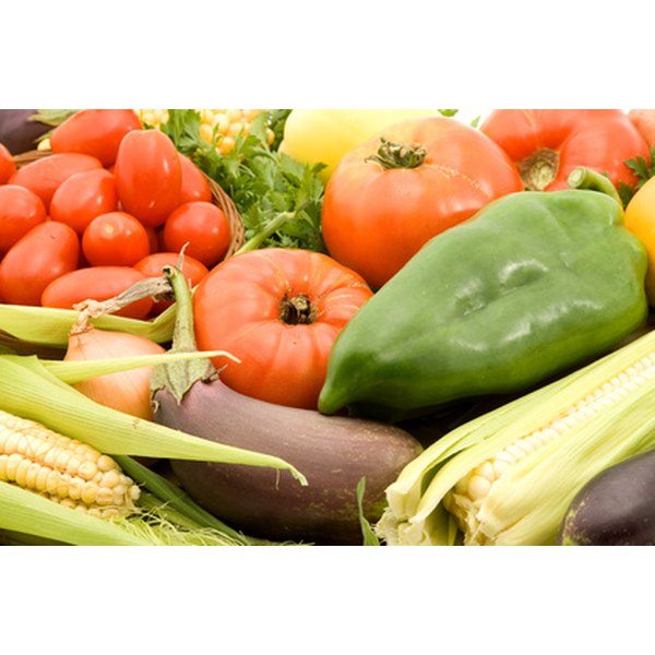 Fresh, unprocessed fruits and vegetables contribute to a healthy diet.
