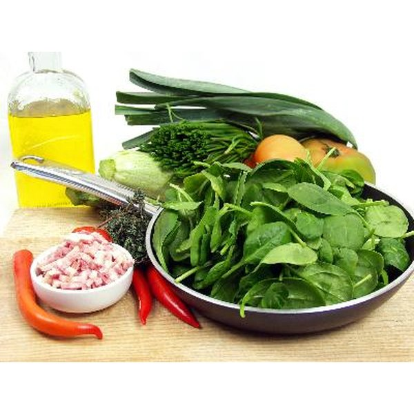 Those with gout should avoid large amounts of spinach.