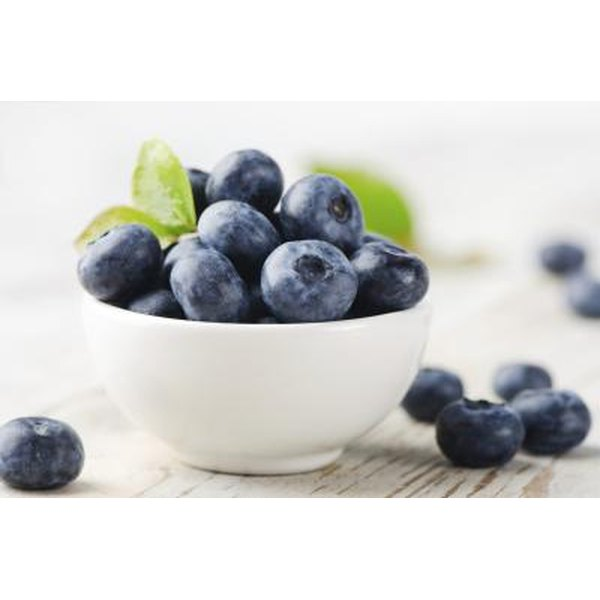 Blueberries contain vitamin C, manganese and vitamin E.