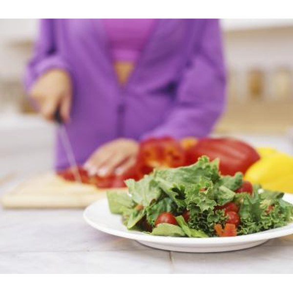 Woman making healthy meal