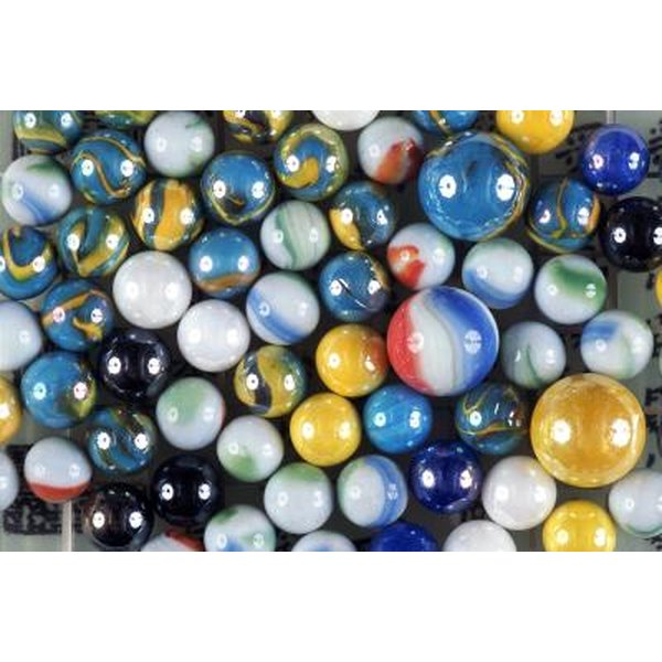 Close up of marbles; a great way to teach math to children.