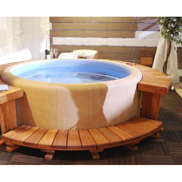 The salt water hot tub boasts numerous benefits such as pain relief.