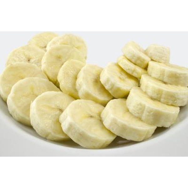 Eat bananas to help replace minerals lost through diarrhea.