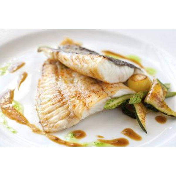 Fish is low in fat and rich in omega-3 fatty acids.