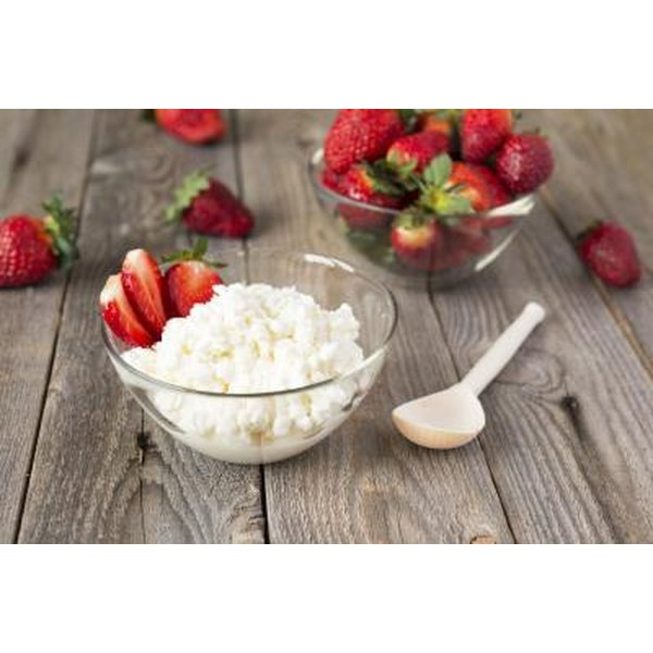 Serve cottage cheese with fruits or vegetables.