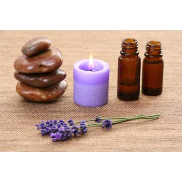 Lavender oil and aromatherapy.