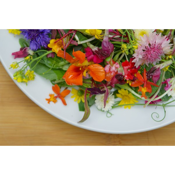 A visit to your local farmers market for edible flowers is the secret to this Instagram-worthy salad!