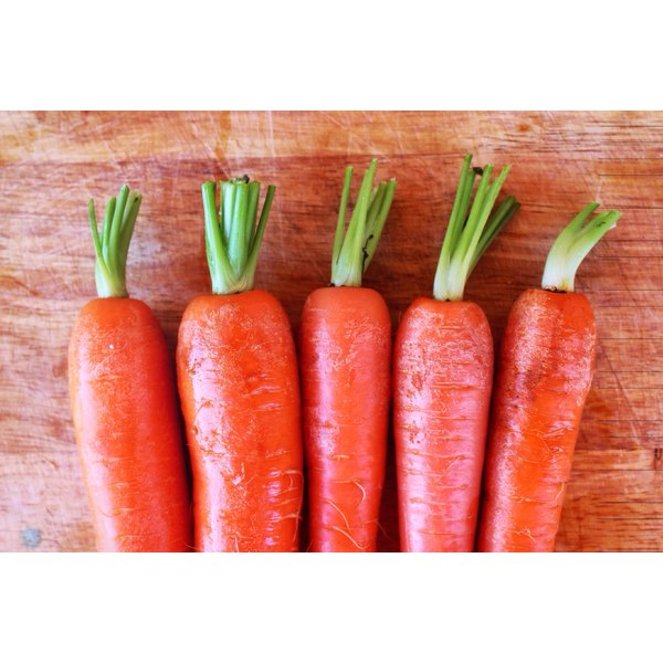 Carrots contain high concentrations of vitamin A and beta-carotene, which act like a natural sunscreen.