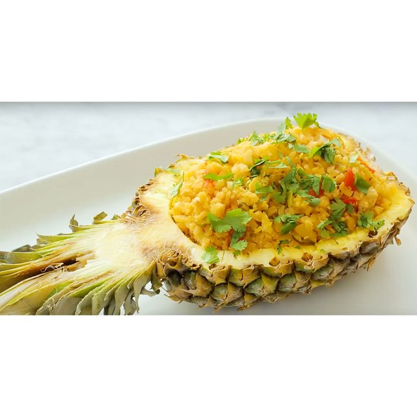 """We're using riced cauliflower in this Thai fried """"rice"""" recipe for lower-calorie feasting."""