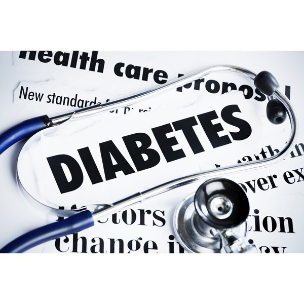 A stethoscope rests on headlines concerning diabetes.