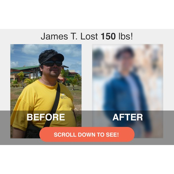 James lost 150 pounds and dropped seven pant sizes!